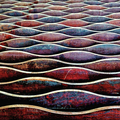 Photograph - Abstract Undulation Ceiling Pattern by Martin Hardman