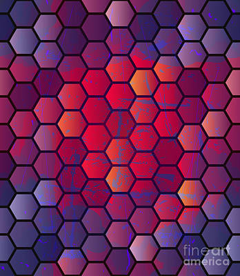 Digital Art - Abstract Vector Geometric Background by Alextanya