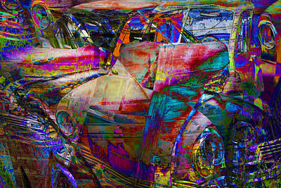 Rusty Trucks - Abstract Vintage Autos by Randall Nyhof