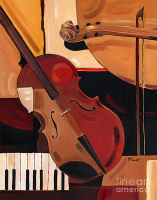 Cello Painting - Abstract Violin  by Paul Brent