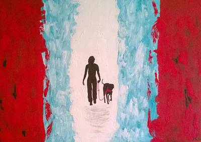 Coller Painting - Abstract Walk by Aat Kuijpers