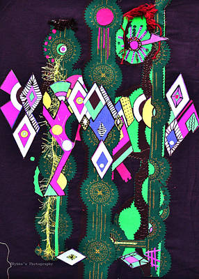 Abstract Warriors Art Print by Ruth Yvonne Ash