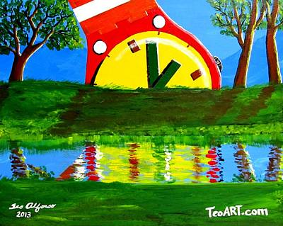 Painting - Abstract Watch Art1 by Teo Alfonso