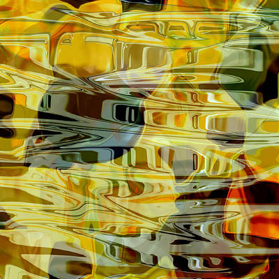 Painting - Abstract Water Reflections 1 by Jessica Wright