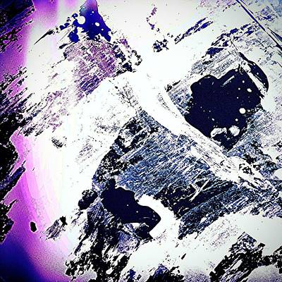 Abstract Wall Art - Photograph - Purple And White 2 by Jason Michael Roust