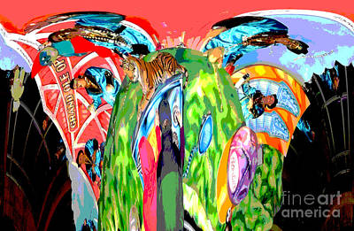 Grand Ole Opry Digital Art - Abstract-when Country Wasn't  Cool by Marian Bell