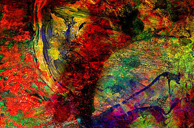 Colorful People Abstract Royalty Free Images - Abstract Wind Royalty-Free Image by Ally  White