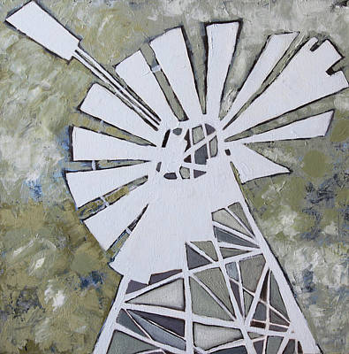 Karoo Painting - Abstract Windmill 1 by Katherine Smit