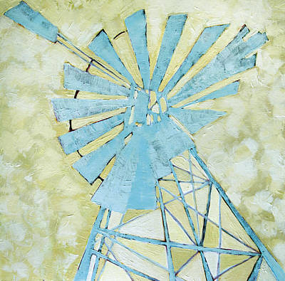 Karoo Painting - Abstract Windmill 2 by Katherine Smit