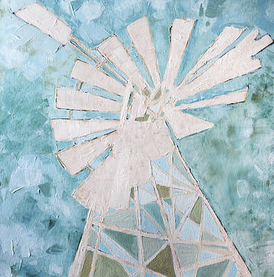 Karoo Painting - Abstract Windmill 3 by Katherine Smit