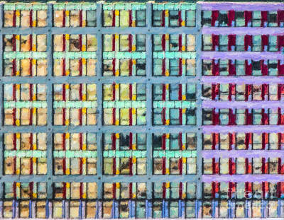 Digital Art - Abstract Windows by Liz Leyden