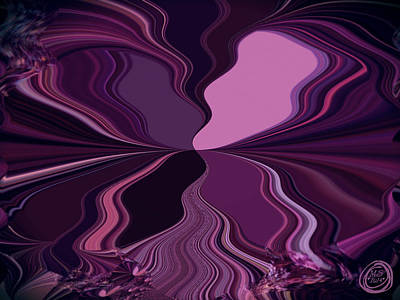 Digital Art - Abstract Wings In Plum by Absinthe Art By Michelle LeAnn Scott