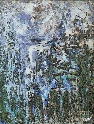Winter Mixed Media - Abstract Winter Landscape by Dragica  Micki Fortuna
