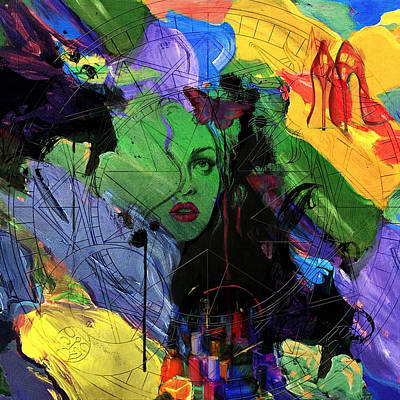 Painting - Abstract Women 014 by Corporate Art Task Force