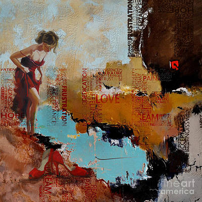 Painting - Abstract Women 24 by Mahnoor Shah