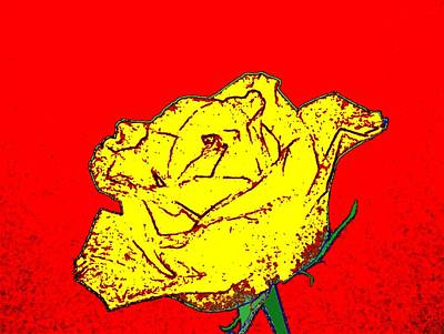 Abstract Yellow Rose Art Print by Will Borden
