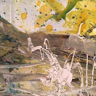 Painting - Abstract Yellow White Sand  by Robin Maria Pedrero