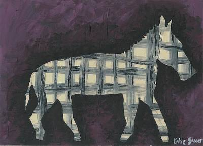 Painting - Abstract Zebra by Katie Sasser