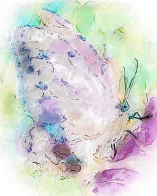 Digital Art - Abstracted Butterfly by Jill Balsam