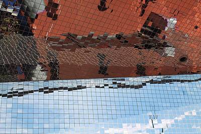 Photograph - Abstracted Reflection by Michael Saunders