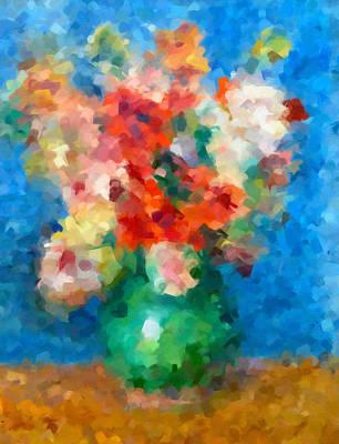 Abstract Digital Mixed Media - Abstracting Renoir by Georgiana Romanovna
