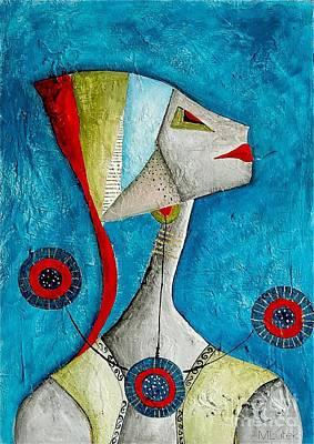 Abstraction 698 -marucii Art Print by Marek Lutek