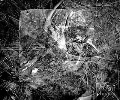 Barrelman Digital Art - Abstraction B-w 0504 - Marucii by Marek Lutek