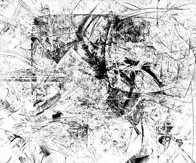 Barrelman Digital Art - Abstraction B-w 0507 - Marucii by Marek Lutek