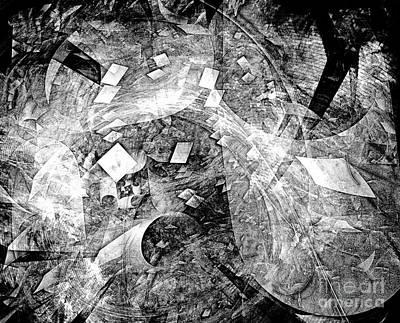 Barrelman Digital Art - Abstraction B-w 0510 - Marucii by Marek Lutek