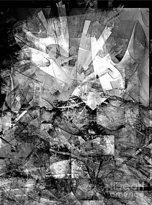 Barrelman Digital Art - Abstraction B-w 0511 - Marucii by Marek Lutek