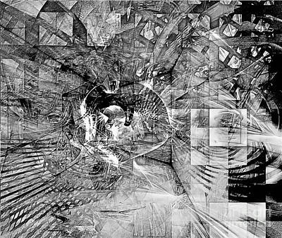 Barrelman Digital Art - Abstraction B-w 0514 Marucii by Marek Lutek