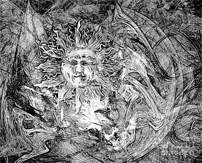 Barrelman Digital Art - Abstraction B-w 0516 Marucii by Marek Lutek