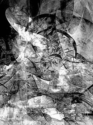 Barrelman Digital Art - Abstraction B-w  512 - Marucii by Marek Lutek