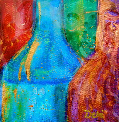 Abstraction Of Bottles Art Print by Debi Starr