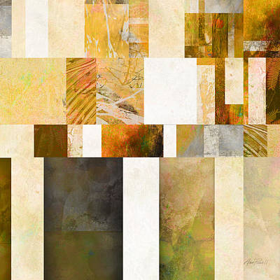 Digital Art - Abstraction On A Square Three by Ann Powell
