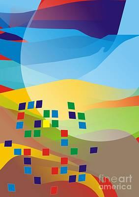 Digital Art - Abstraction V 060 Marucii by Marek Lutek