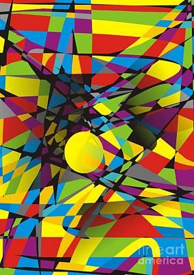 Digital Art - Abstraction V 063 Marucii by Marek Lutek