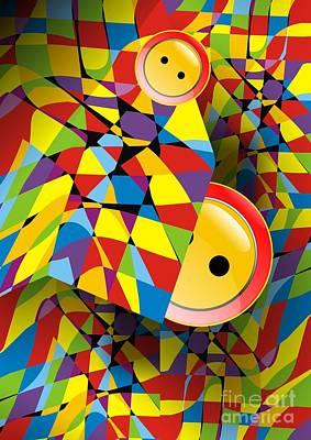 Digital Art - Abstraction V 069 Marucii by Marek Lutek