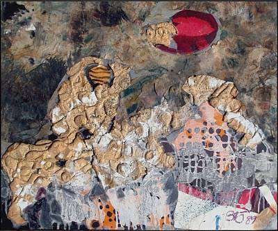 Flower Still Life Mixed Media - Abstraction by Zaravko Batembergski