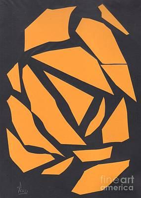 Abstracto Mixed Media - Abstracto Fondo Negro by Eliso Ignacio Silva