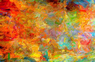 Abstracto Impasto Art Print