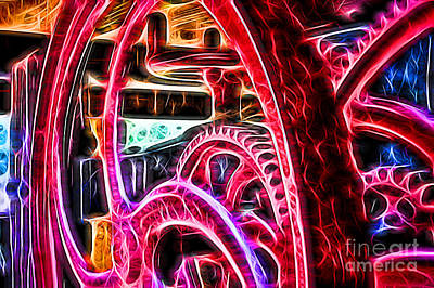 Photograph - Abstract Wine Press Gears by Dawn Gari