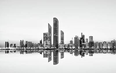 Business Photograph - Abu Dhabi Urban Reflection by Akhter Hasan