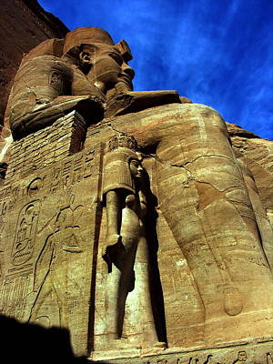 Photograph - Abu Simbel - Ramses II And Cleopatra - Egypt by Jacqueline M Lewis