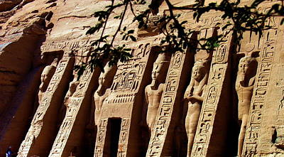 Photograph - Abu Simbel Carvings - Egypt by Jacqueline M Lewis