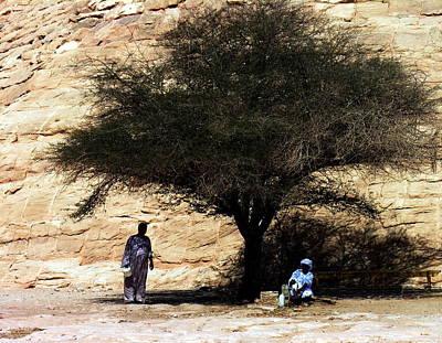 Photograph - Abu Simbel - Shade by Jacqueline M Lewis