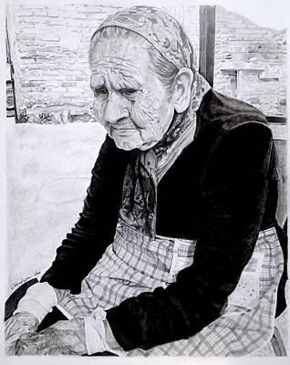 Abuela Pina Art Print