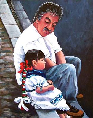 Painting - Abuelito by Susan Santiago