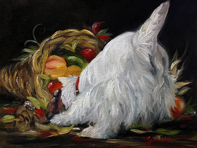 Cornucopia Painting - Abundance by Mary Sparrow