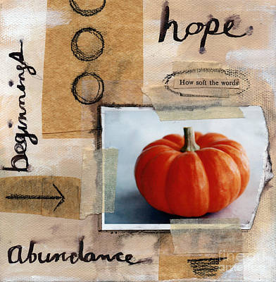 Pumpkin Mixed Media - Abundance by Linda Woods